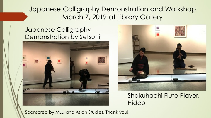 Japanese Calligraphy Demonstration and Workshop